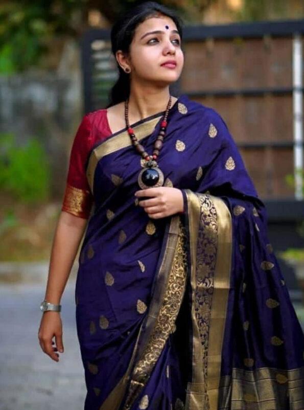 Pal Fashion Blue Saree 02